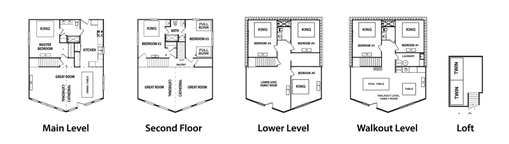 Emerald Cove Floor Plans